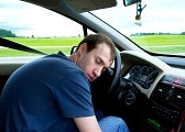Asleep at the wheel---shameful, dangerous, foolish, bad decision drinking and driving, and most of all, sad