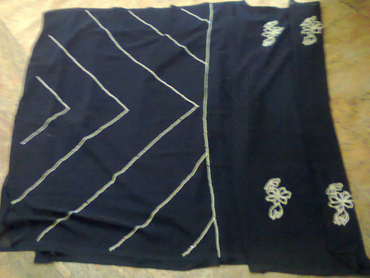 Another saree designed by her
