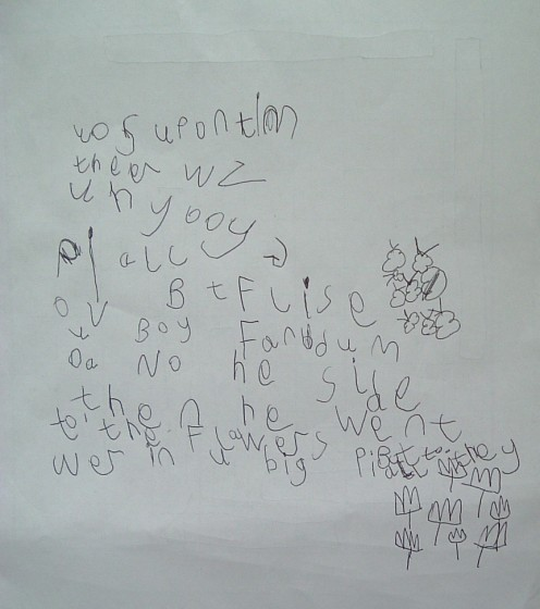 A budding writer?  Oh yes!