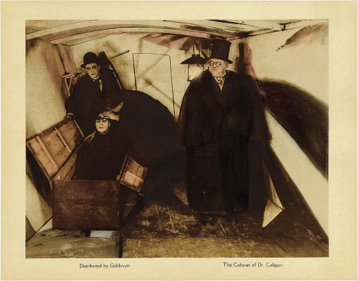 "A still from ""The Cabinet of Dr. Caligari"""