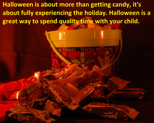 Halloween is a great holiday for parents to spend time with their children. In order for a child to truly experience Halloween, they should walk the streets with their parents and experience the fresh air. Halloween is a great bonding experience.