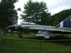 Gloster Javelin XH892 (FAW9R), left side view, at Norfolk and Suffolk Aviation Museum, Flixton, Suffolk.