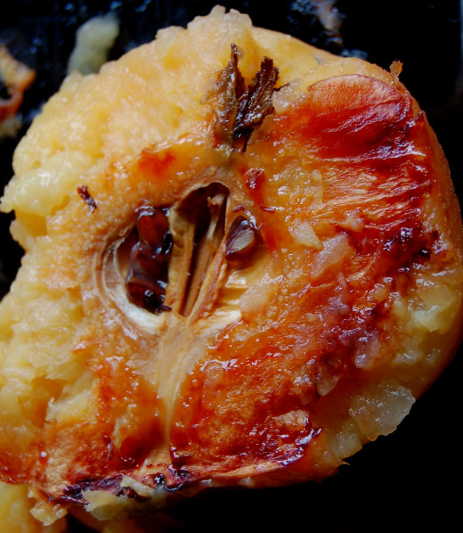 Roasted quince is a delight with roast beef, pork or chicken. See the recipe here