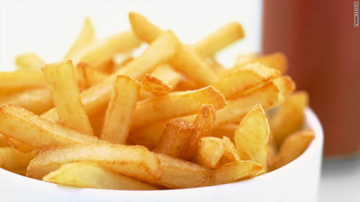 French fries are very popular at many fast-food restaurants.