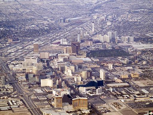 The Las Vegas strip, December 2007