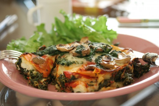 Mushroom and spinach combine for a healthy lasagna filling. See the recipes here