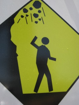 Caution: falling rocks!