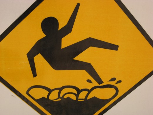 Caution: tide pools are slippery.