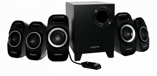The Creative Inspire T6300 5.1 speaker system ( Features Creative IFP for improved sonic directivity and imaging. This gives you a good 5.1 cinematic surround experiences. Can your system sound better? Sure. Can it sound better at this price? No.