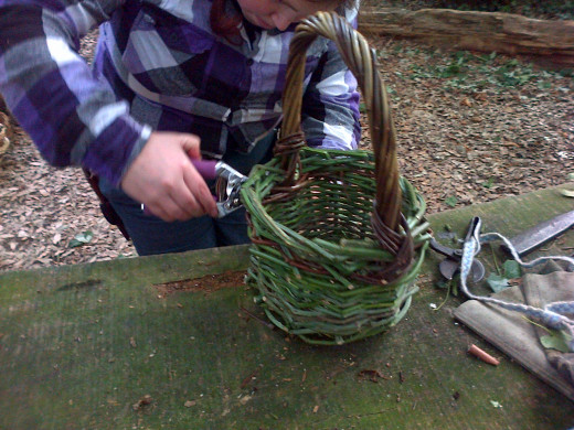 One Example of a Well-Done Bramble Basket