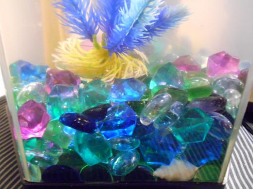 Aquarium rocks.