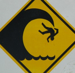 Caution: tidal waves.