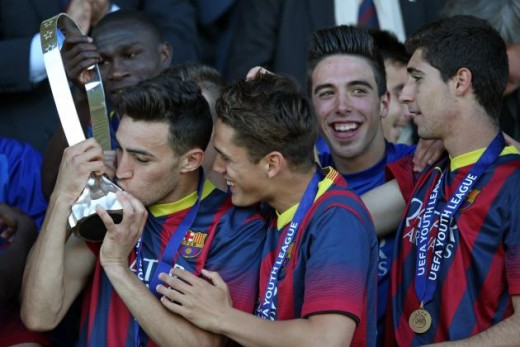 Munir almost singlehandedly guided Barça's U19 to Youth League success