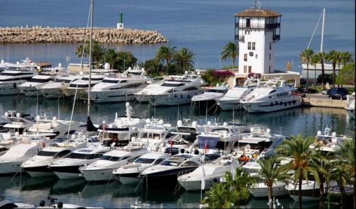 The marina at Puerto Portals, also known as 'millionaire's marina'.