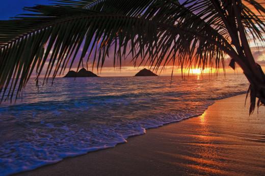 Sunset at Lanikai Beach