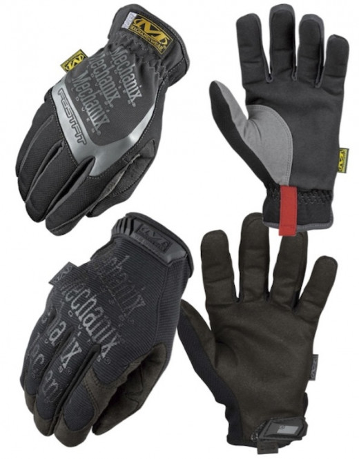 Top: Mechanix Wear MFF-05-520 Women's FastFit Work Glove;  Bottom: Mechanix Wear MG-05-010 Original Glove for Men