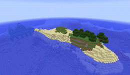 Minecraft survival island seed with ocean monument by spawn.