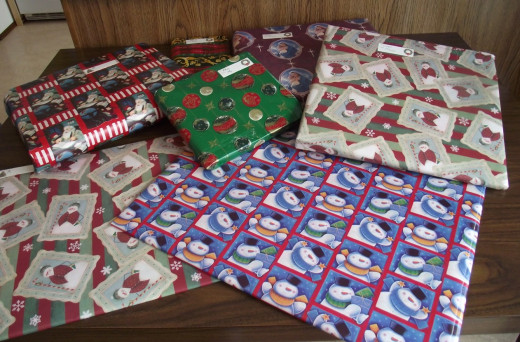Christmas presents all wrapped and ready to be gifted.