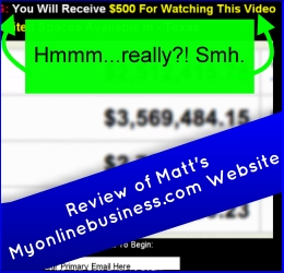 Claims $500 to just watch the video. : 