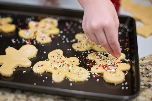 Sugar cookies are a traditional Christmas treat.