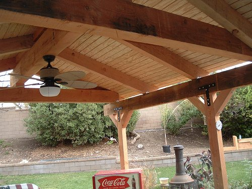 This is the ceiling surface of a custom patio cover.  Photo by http://www.flickr.com/photos/newaveconstruction/337666309/