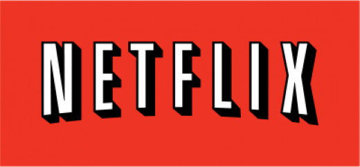 Netflix logo with red background and white capital letters spelling the company name Netflix.