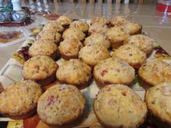 Cranberry, Orange, Sugar Muffins