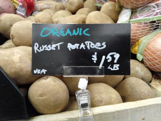 Russet potatoes for sale