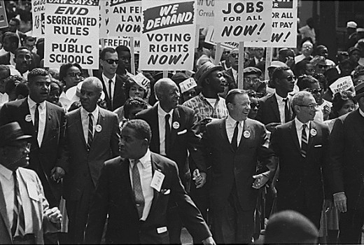 Photograph by Rowland Scherman for USIA 28 August 1963 Civil Rights March on Washington, D.C.