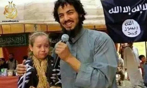 An ISIS member marrying a young girl slave using the Quran to support the action.