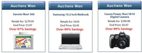 Auction History (all of three items) remains unchanged for up to three weeks.