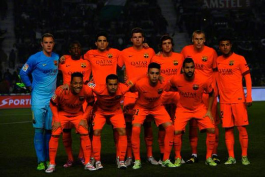 Barça's starting line-up