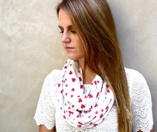 Heart scarf