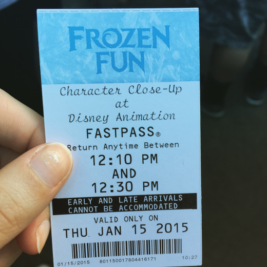 Frozen Fun character meet and greet ticket