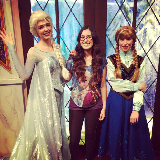 Queen Elsa, Princess Anna, and me!