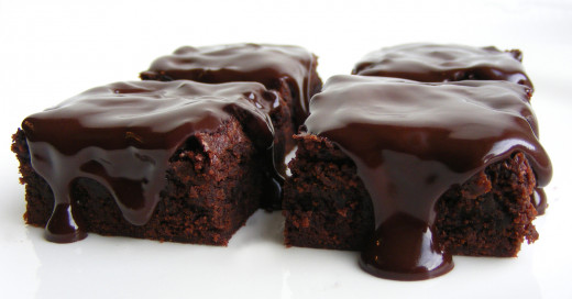 Chocolate on chocolate!