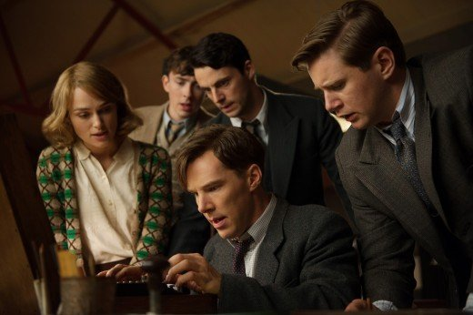 Turing and his Bletchley crack-team at work