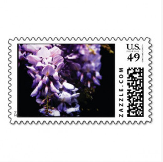 Beautiful wisteria postage stamps - all denominations