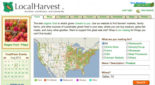 find local produce in your area with this produce map