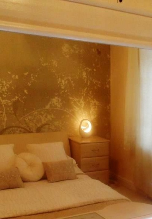 Wall murals are cheap and easy to install and will give your room a luxury look