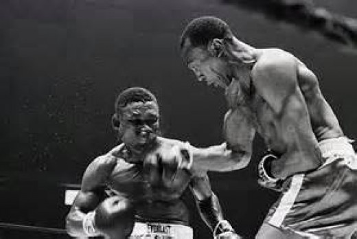 Bob Foster knocked Dick Tiger cold in their light heavyweight title tilt. Foster is considered one of the best light heavies in boxing history.