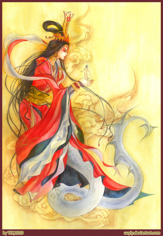 Goddess Nü Wa who created human beings
