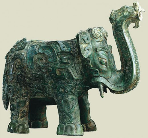 Elephant-shaped Bronze,Zhou Dynasty