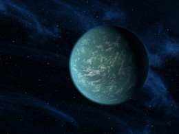 Kepler 22b is a candidate for Earth 2.0 -- or for Planet Dowz. The picture is a work of art,