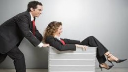 """Yes, these employees are wasting time. But the boss who caught them called it """"Office Furniture Games"""""""