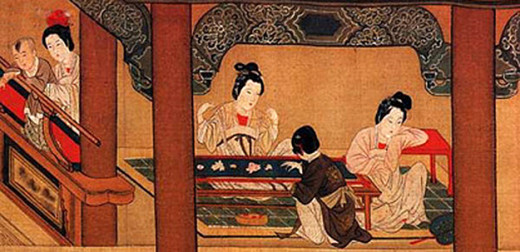 Imperial embroiderers in ancient China