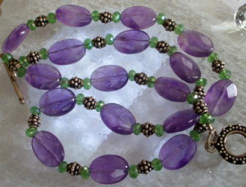 Amethyst & Peridot Necklace