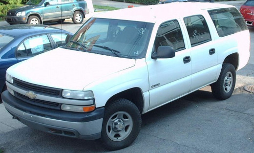 The white Suburban that almost ended my life looked like this.  White Suburbans still make me break in to a sweat.