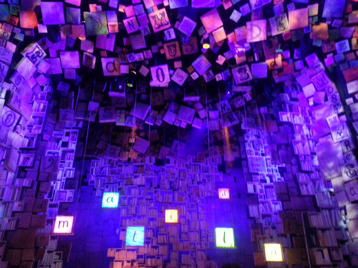 The stage set for Matilda the Musical at the Cambridge Theatre
