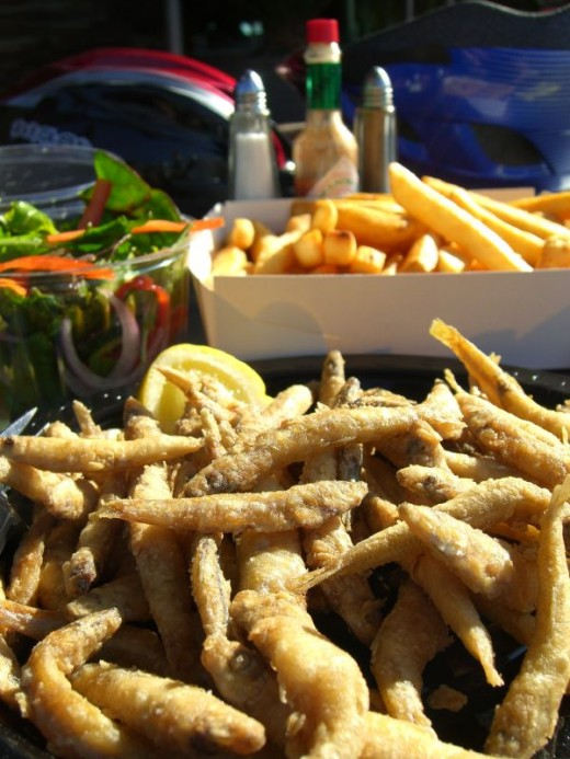 Whitebait and Chips
